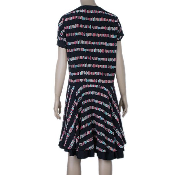 See by Chloe Printed Silk Crepe De Chine Dress M