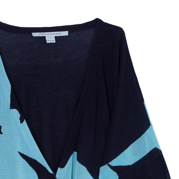 Diane Von Furstenberg Kinaya Knit Wrap Dress L