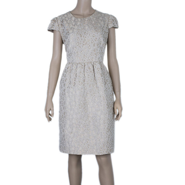 CH Carolina Herrera Jacquard Shift Dress L