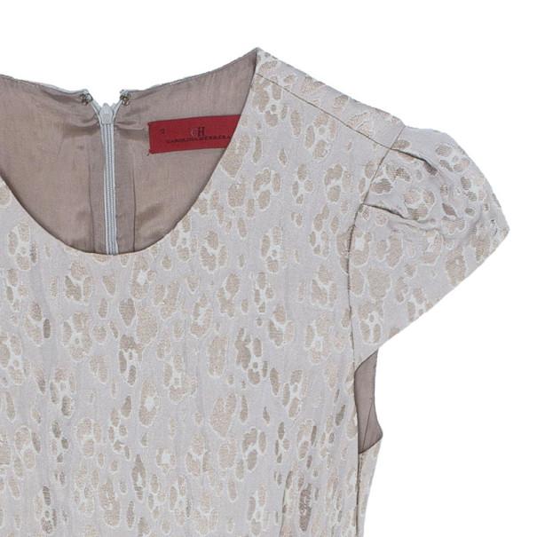 CH Carolina Herrera Jacquard Shift Dress L