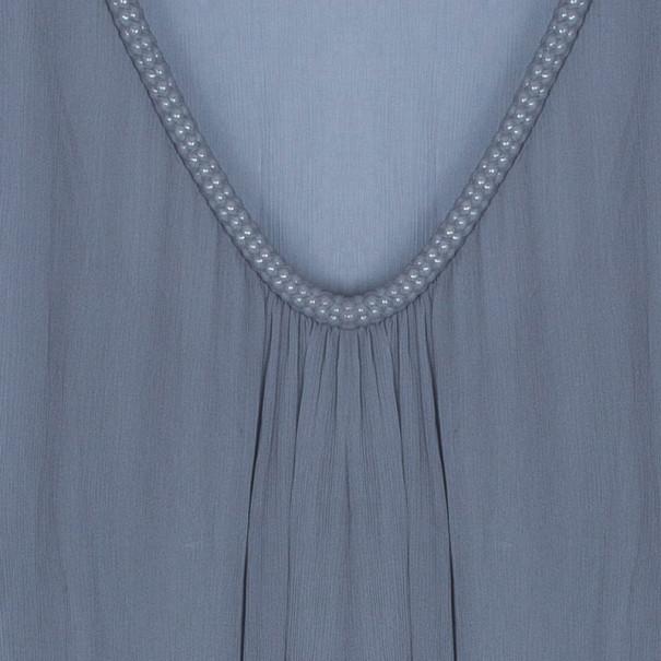 Diane Von Furstenberg Grey Sol Chiffon Dress M