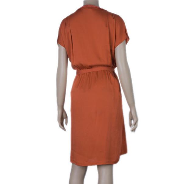Diane Von Furstenberg Tangerine Mateo Dress L