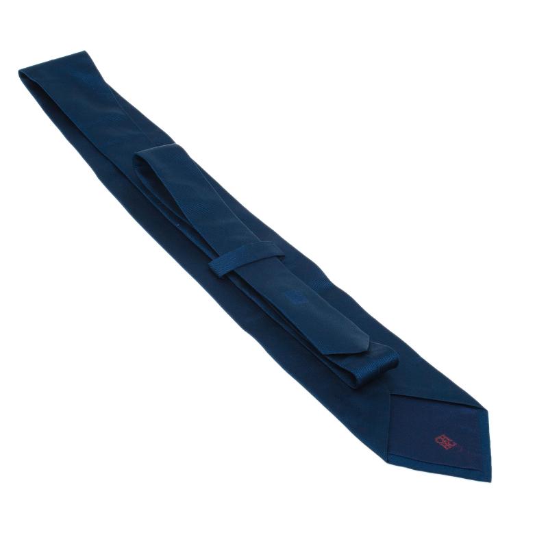 CH Carolina Herrera Navy Blue Silk Tie