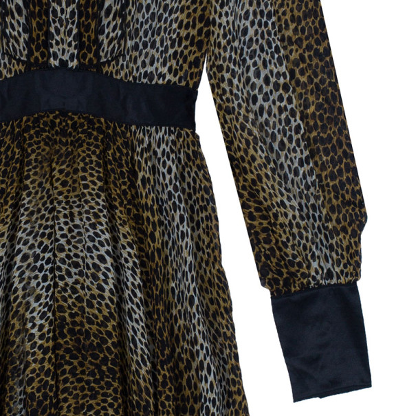 D and G Animal Print Silk Dress M