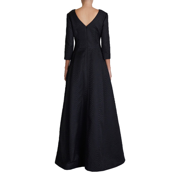 Jason Wu Black Silk-Jacquard Gown M