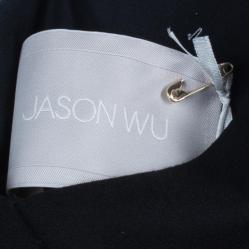 Jason Wu Black Lace-Detail Dress M