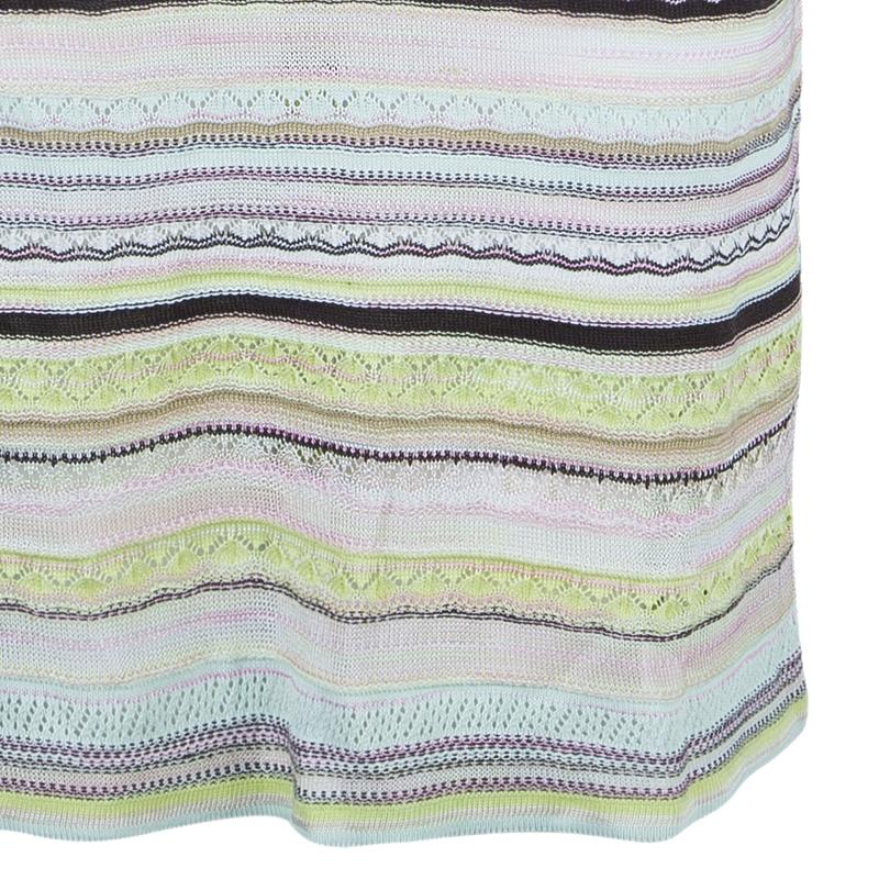 M Missoni Multicolor Striped Knit Dress M