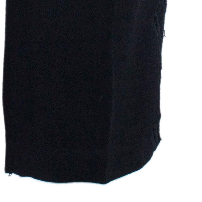 Catherine Malandrino Black Crochet Detail Bermuda Shorts S