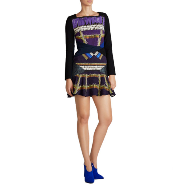 Peter Pilotto Printed Wool Knee-Length Dress M