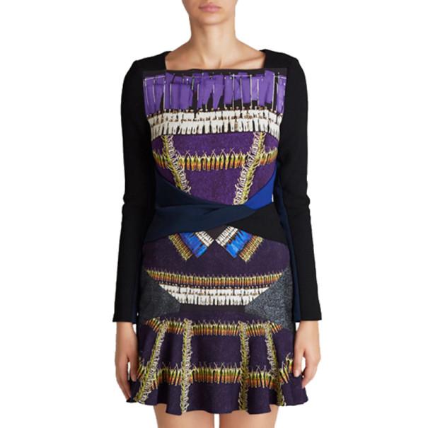 Peter Pilotto Printed Wool Knee-Length Dress M