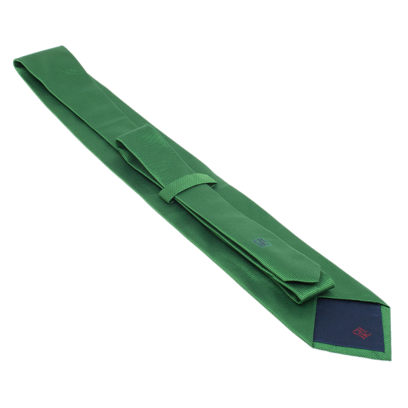 CH Carolina Herrera Green Silk Tie