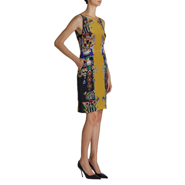 Mary Katrantzou Halle Printed Crepe Sheath Dress M