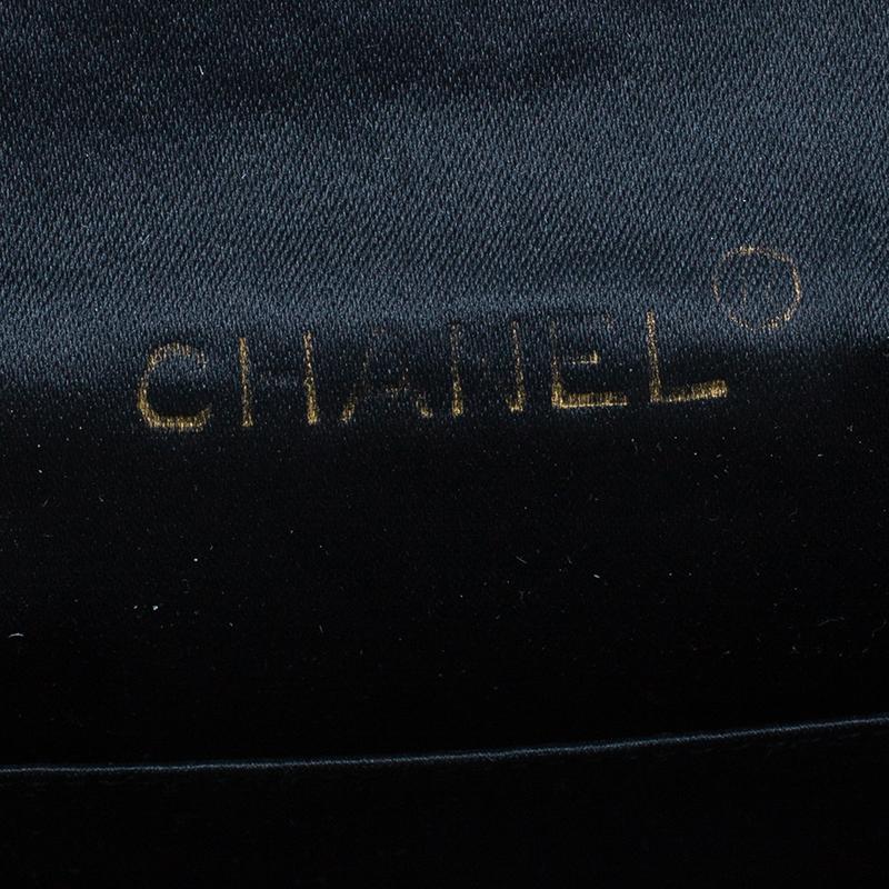 Chanel Black Quilted Satin Vintage Mini Flap Bag