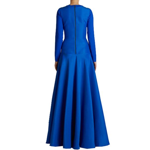 Roksanda Ilincic Laurine Royal Blue Floor-Length Dress M