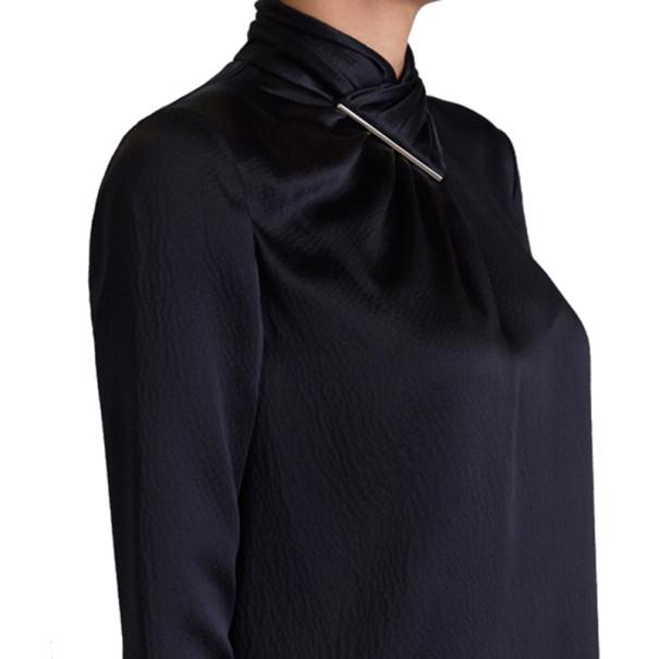 Jason Wu Black Hammered Silk Blouse M