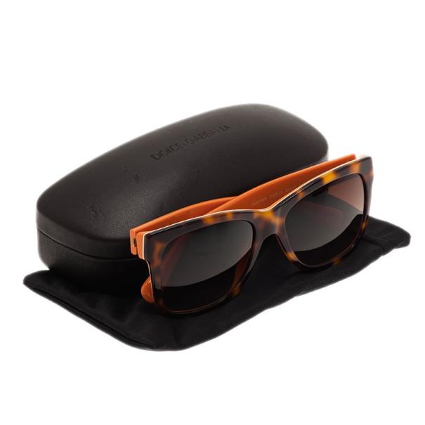 Dolce and Gabbana Tortoise and Orange DG4158P Square Sunglasses