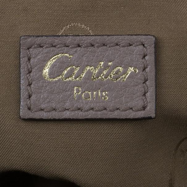 Cartier Beige Calfskin Small Marcello De Cartier Hobo