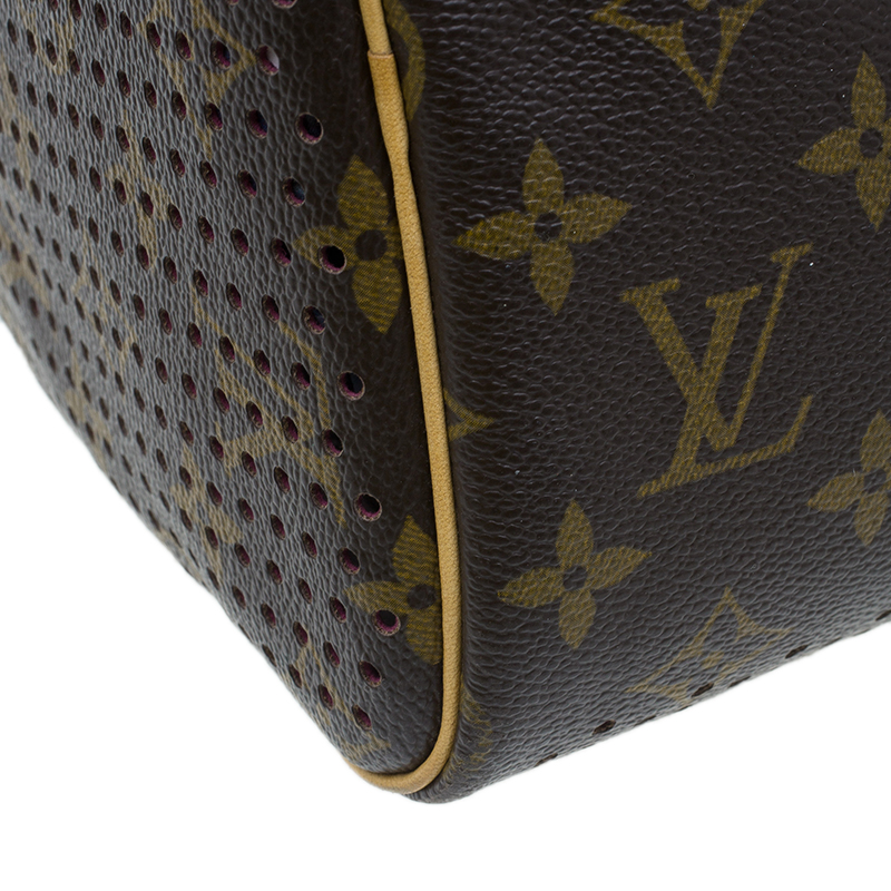 Louis Vuitton Fuchsia Perforated Monogram Canvas Limited Edition Speedy 30