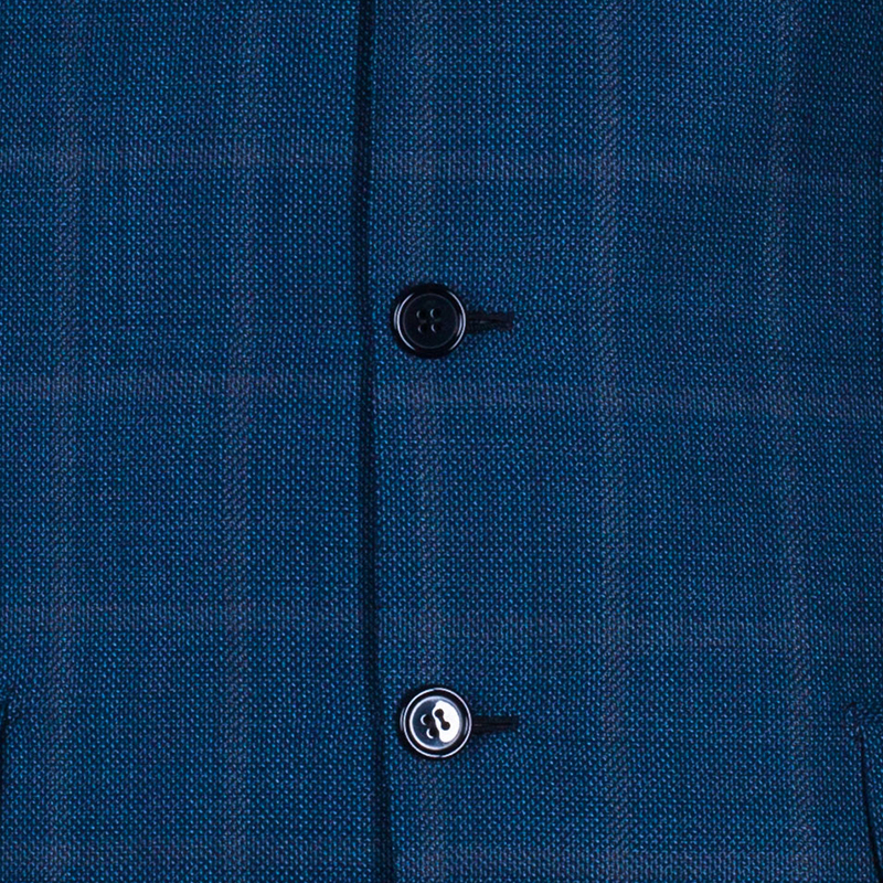 Brioni Men's Blue Wool Blazer M