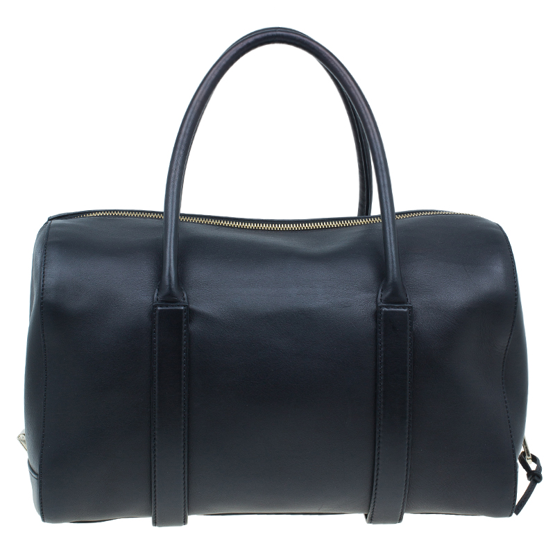 Chloe Black Leather Madeleine Bowling Bag
