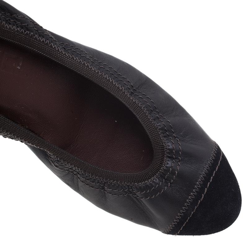 Chanel Black Leather Elastic Pumps Size 40.5