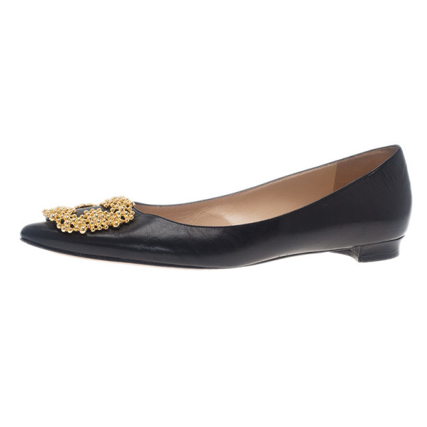 Manolo Blahnik Leather Flats