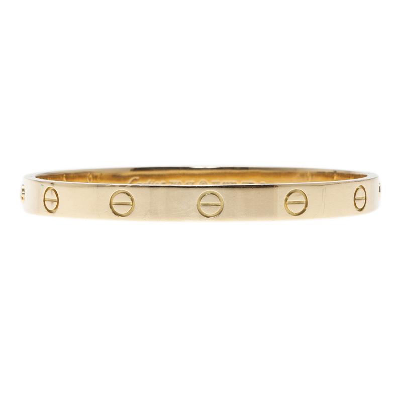Cartier Love Yellow Gold Bracelet 17CM