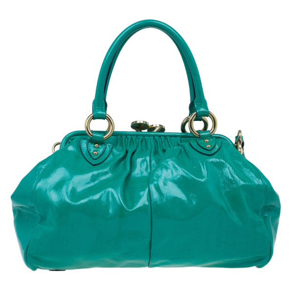 Marc Jacobs Turquoise Patent Stam