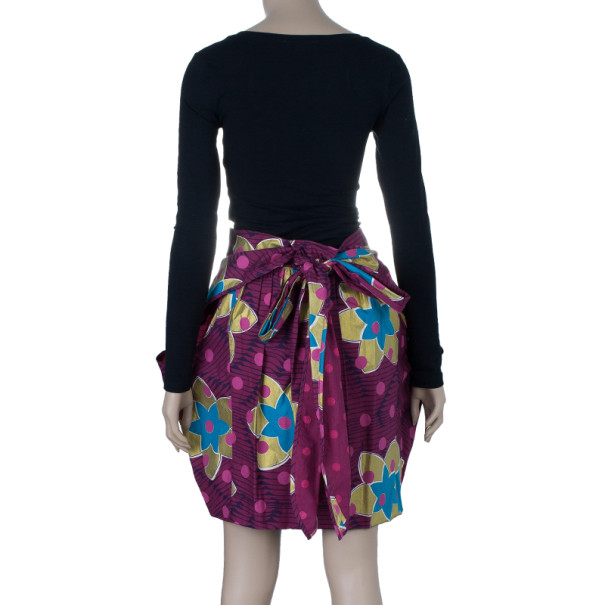 Marc by Marc Jacobs Purple Floral Skirt M
