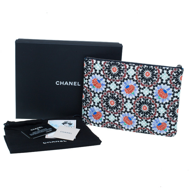 Chanel Multicolored Flower Limited Clutch