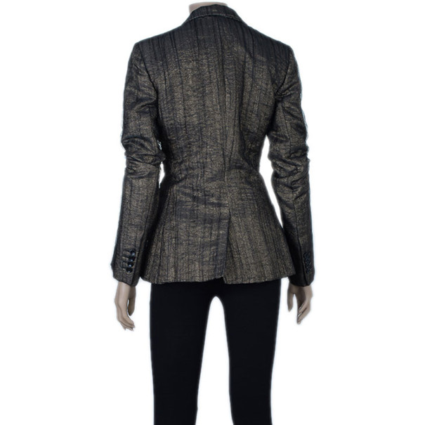 D and G Metallic Textured Jacket M