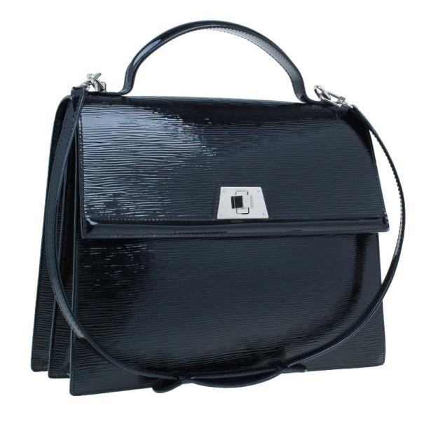 Louis Vuitton Black Epi Patent Leather Electric Sevigne MM