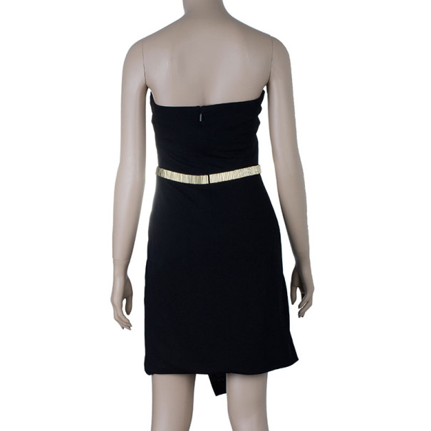 Gucci Black Strapless Cocktail Dress S