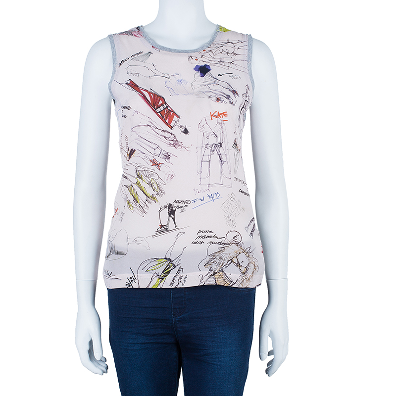 Dolce and Gabbana Silk Cotton Printed Top S
