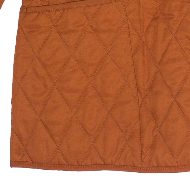 Burberry Tangerine Diamond Quilted Jacket M