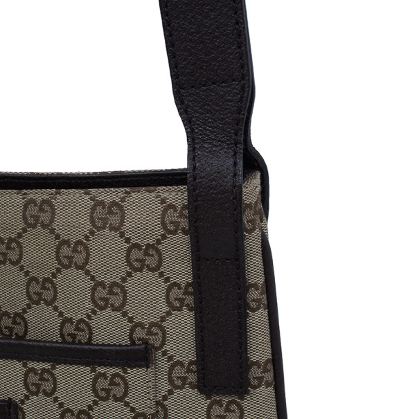Gucci Beige Original GG Canvas Messenger Bag