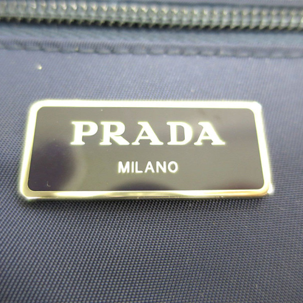 Prada Blue Nylon Backpack