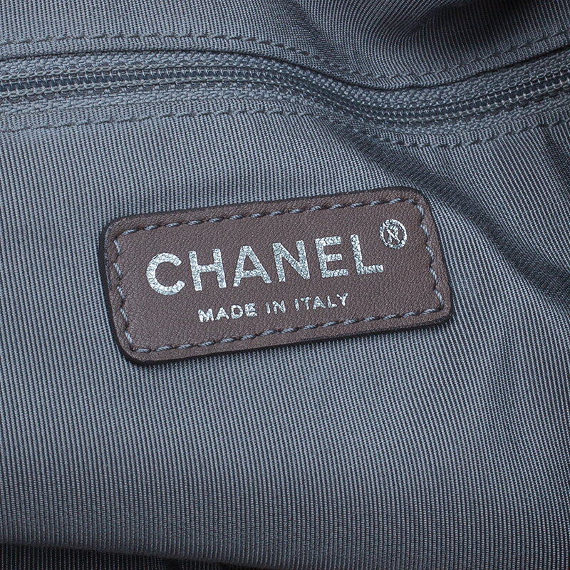 Chanel Black Denim XL Coco Cabas Spirit Hobo Bag