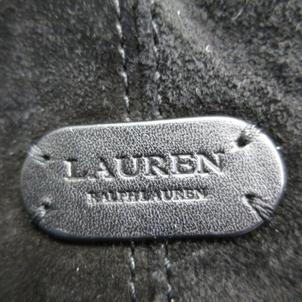 Ralph Lauren Black Suede Tote