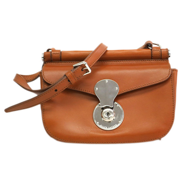 Ralph Lauren Brown Leather Flap Crossbody