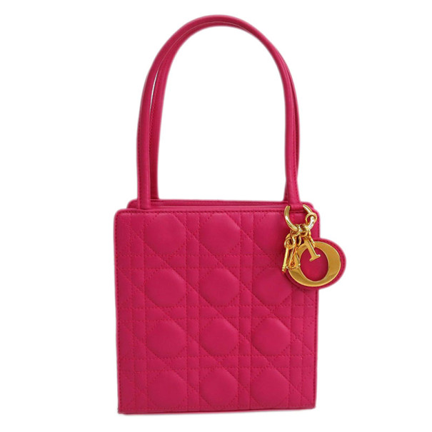 Dior Pink Quilted Shoulder Bag