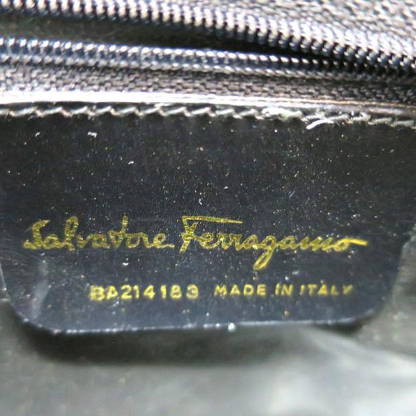 Salvatore Ferragamo Black Vara Leather Crossbody