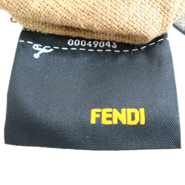 Fendi Silver Leather Selleria Shoulder Bag