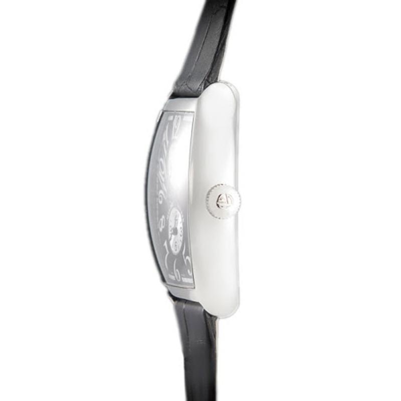 Franck Muller Black 18K White Gold Cintree Curvex Master Banker Men's Wristwatch 47MM
