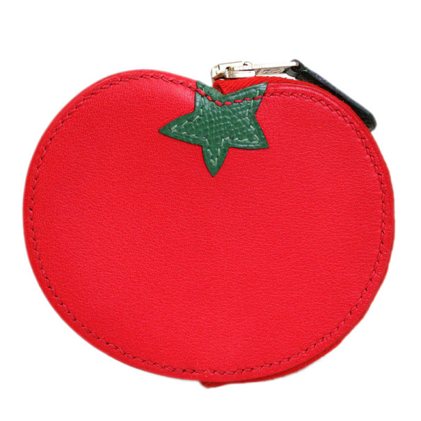 Hermes Red Gulliver Tomato Coin Case