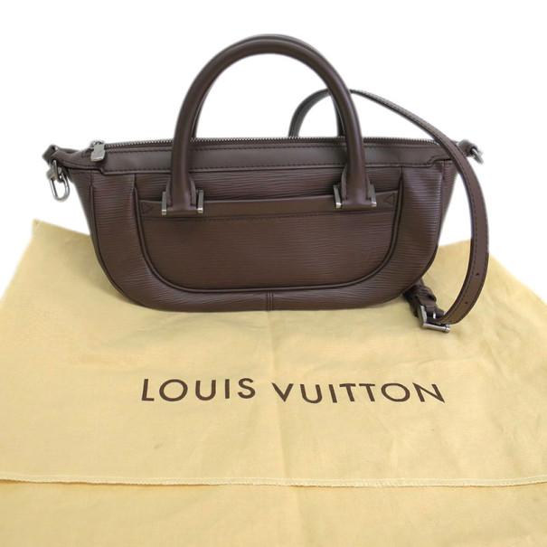 Louis Vuitton Epi Brown Leather Dhanura Tote PM