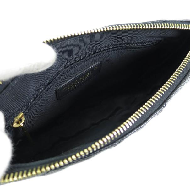 Chanel Black Caviar Pochette