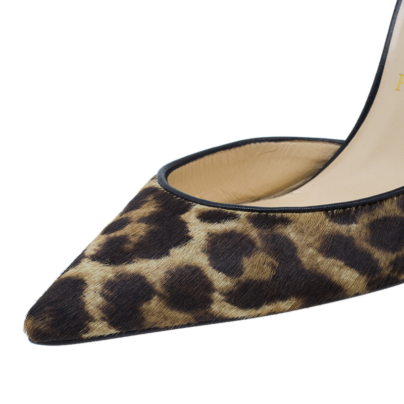Christian Louboutin Brown Pony Hair Iriza D'orsay Pumps Size 37