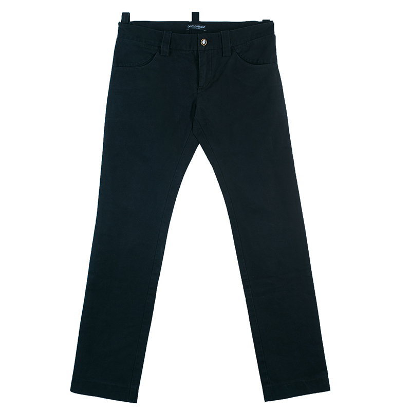 Dolce And Gabbana Men's Black Denim Pants S