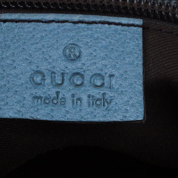 Gucci Original GG Blue Canvas Web Tote